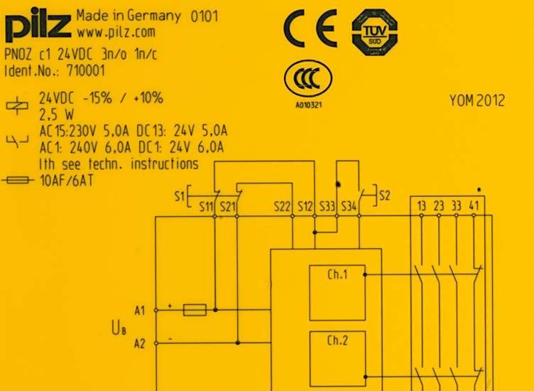 Pilz PNOZ c1 24VDC 3n//o 1n//c 710001 Safety Relay 24VDC