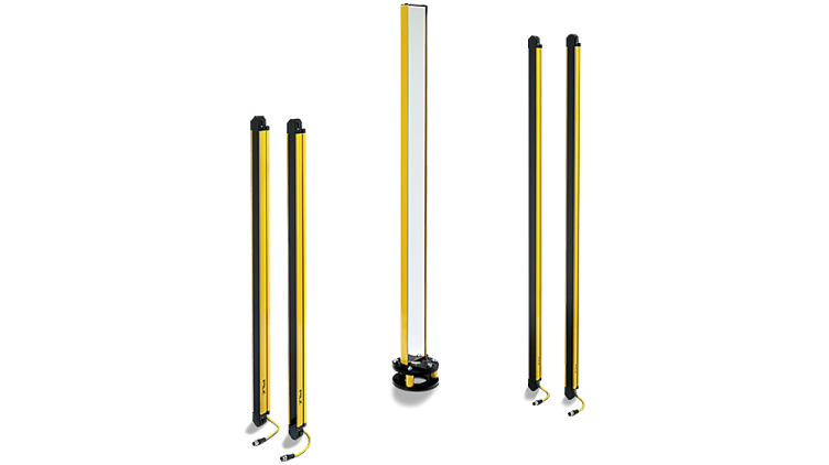 Barreras fotoeléctricas de seguridad PSENopt II con poste reflector