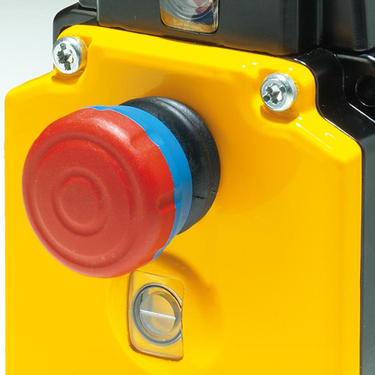 Características del interruptor de tracción por cable.
