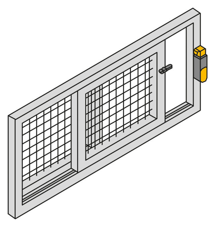 Secure safety gate monitoring with PSENmech
