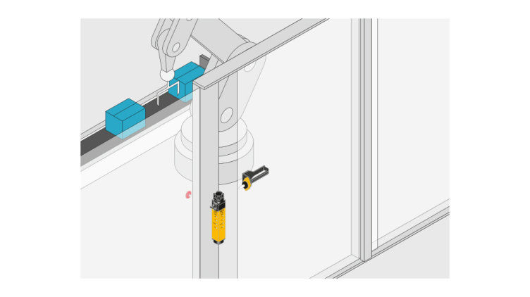 Separate door handles can be combined with the safety gate system PSENmlock