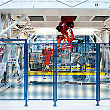 Use of the safety gate system in industry