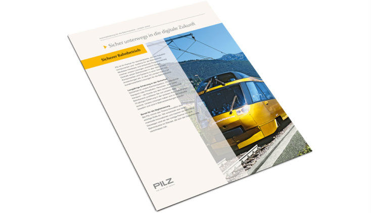 Flyer on railway technology