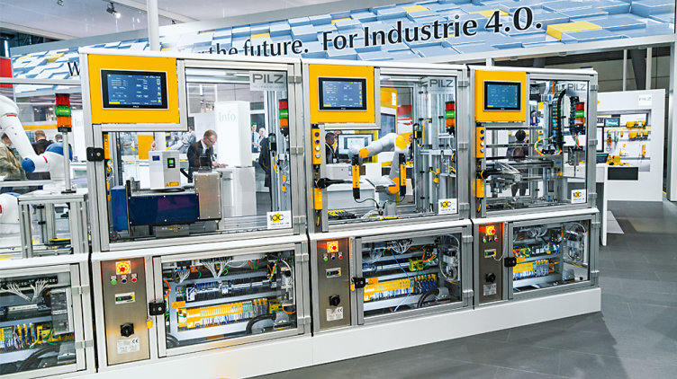 Smart factory plant from Pilz