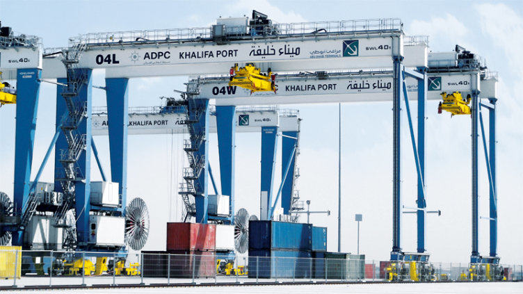 Khalifa Port in the Emirate of Abu Dhabi