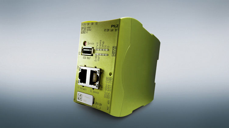 Pilz SecurityBridge is used within a corporate network and prevents unauthorised access to controllers.