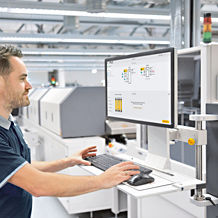"With the intuitive online tool myPNOZ Creator, users can assemble ""their"" individual safety relay myPNOZ. (Photo: Pilz GmbH & Co. KG/ © iStock.com/industryview)"