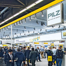 Pilz stand at the Hannover Messe