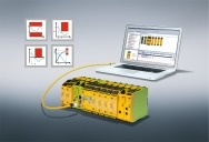 Drives can be monitored safely using the new motion monitoring modules for the PNOZmulti 2.