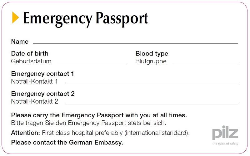 Safety passport from Pilz