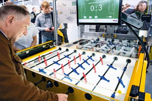 Pilz's Robokicker at the Hannover Messe 2016