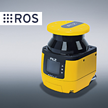 The safety laser scanner PSENscan from Pilz can now also be used for dynamic navigation of automated guided vehicles (AGV) thanks to the new ROS (Robot Operating System) packages from the Open Source Framework ROS. (Photo: Pilz GmbH & Co. KG)