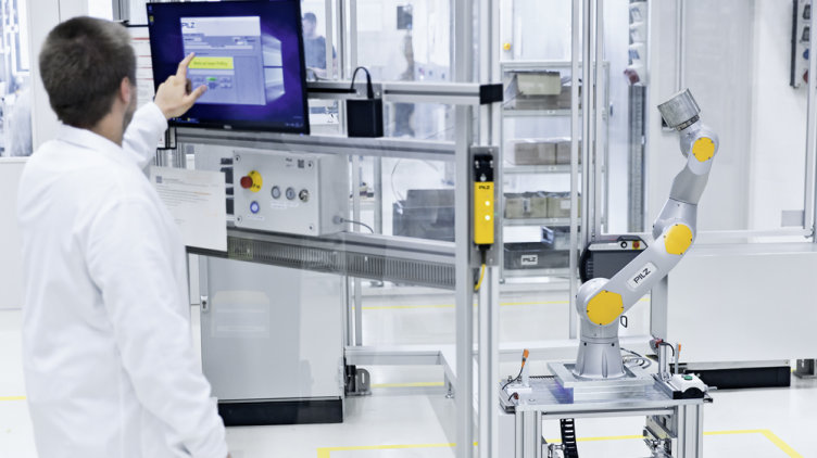 Automation solutions from Pilz protect plant and machinery: they guarantee access for authorised personnel only and prevent external manipulation. (Photo: Pilz GmbH & Co. KG)