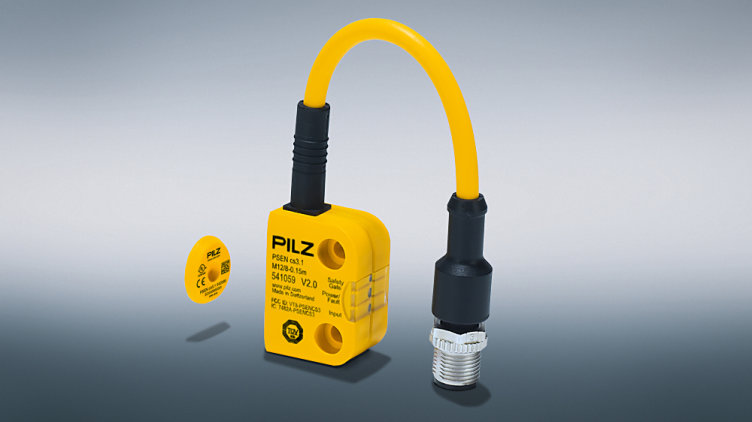 The distinguishing feature of the new PSENcode low profile actuator from Pilz is its very low height of just 3 mm. It completes the safety switches PSENcode, enabling a more flexible application as a result. (Photo: Pilz GmbH & Co. KG)