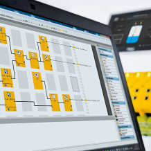 For the configurable safe small control system PNOZmulti from Pilz, a new application simulation is available from Version 10.9. Users can test the configured user program even before commissioning, and thereby save time and costs during configuration.