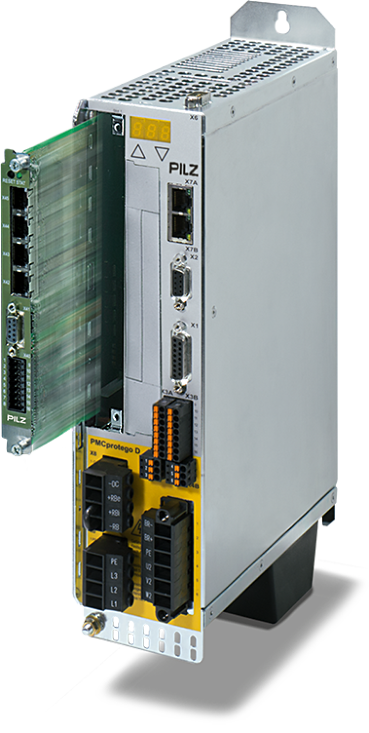 Low space requirements thanks to integrated solution: PMCprimo DriveP – safe-drive-based