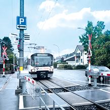 The PSS 4000-R automation system is used throughout Europe to secure railways crossings (with or without barrier protection), for example, and assumes control and safety tasks.