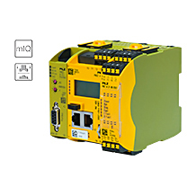 The new dual-pole semiconductor output module PNOZ m EF 8DI2DOT of the configurable safe small control systems PNOZmulti 2 ensures the safety of a complete press.