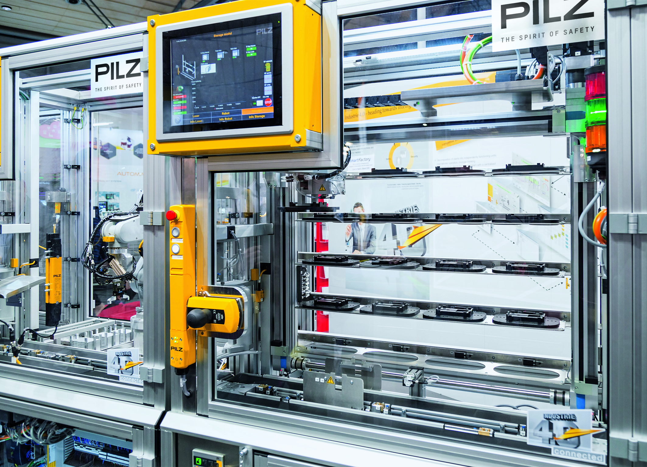 Pilz At The Hannover Messe 2018 Hall 9 Stand D17 Modular To Wiring Solutions Factory Of Future On Shows Innovative Automation For Safety Gate Monitoring Among Them