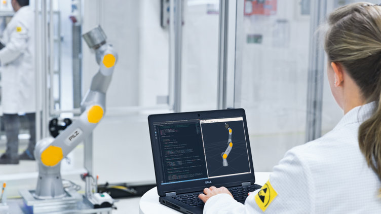 Pilz is a solution supplier for automation: in the field of service robotics, for example, the company is developing software to control robots.