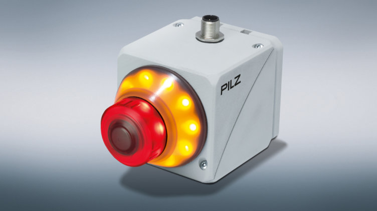 With PITestop active, Pilz has a new range of E-STOP pushbuttons that can be activated electrically. It indicates by illumination whether or not it is active. Photo: Pilz GmbH & Co. KG