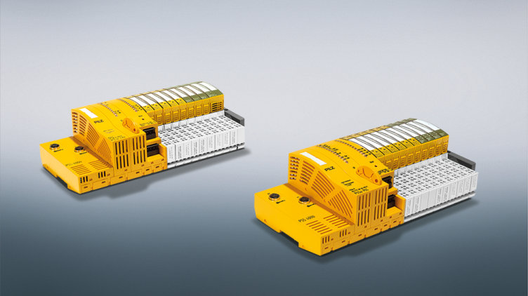 Robust communication: Two new control heads with M12 interfaces supplement the railway range of the automation system PSS 4000-R from Pilz.